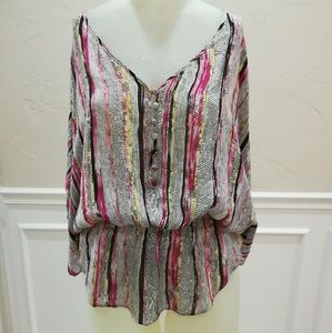 Parker multi colored silk blouse